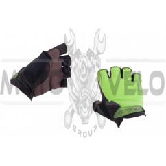 Перчатки без пальцев (size:XL, зеленые) FOX