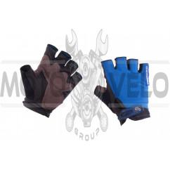 Перчатки без пальцев (size:XL, синие) FOX