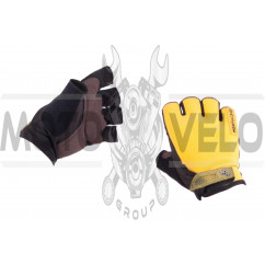 Перчатки без пальцев (size:M, желтые) FOX
