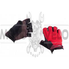 Перчатки без пальцев (size:L, красные) FOX