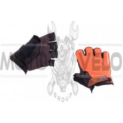 Перчатки без пальцев (size:L, оранжевые) FOX
