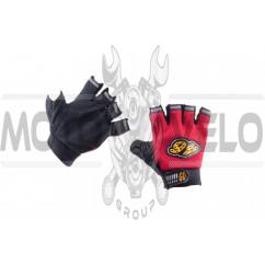 Перчатки без пальцев GO (size:L, красные) 46