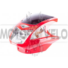 Обтекатель Zongshen, Lifan 125/150 (mod:4, с фарой и поворотами) (красный)
