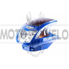 Обтекатель Zongshen, Lifan 125/150 (mod:4, с фарой и поворотами) (синий)
