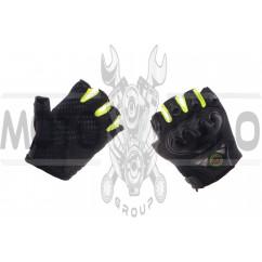 Перчатки ST (черно-зеленые, без пальцев size XL)
