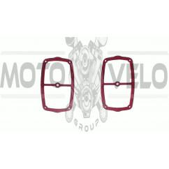 Прокладка крышки клапанов МТ, ДНЕПР (2шт) (красная) SKY