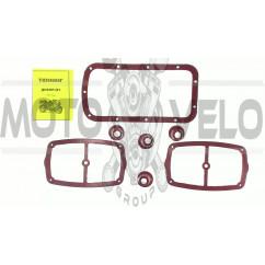 Набор резиновых прокладок МТ, ДНЕПР (касая+клапана+поддон) (красные) SKY