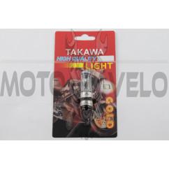 Лампа P15D-25-1 (1 ус) 12V 50W/50W (белая) (блистер) (S-head) TAKAWA (mod:A)