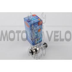 Лампа P15D-25-3 (3 уса) 12V 18W/18W (белая) (B-head) BEST (mod:A)