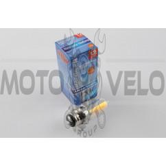 Лампа P15D-25-3 (3 уса) 12V 18W/18W (хамелеон розовый) BEST (mod:A)