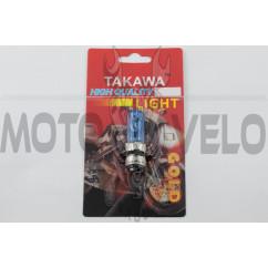 """Лампа P15D-25-3 (3 уса) 12V 50W/50W (супер белая) (блистер) """"TAKAWA"""" (mod:A)"""