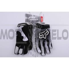 Перчатки FOX 360 GLOVE (mod:360, size:XL, черно-белые)