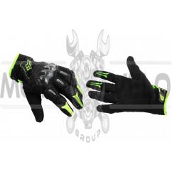 Перчатки FOX BOMBER (mod:FX-5, size:L, черно-зеленые)
