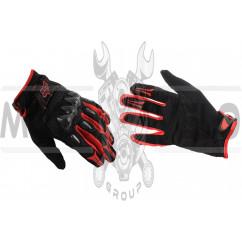 """Перчатки """"FOX"""" BOMBER (mod:FX-5, size:L, черно-красные)"""
