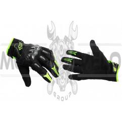 Перчатки FOX BOMBER (mod:FX-5, size:XL, черно-зеленые)