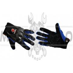 Перчатки SCOYCO (mod:HD-12, size:L, синие, текстиль, карбон)