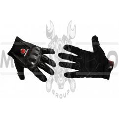 Перчатки SCOYCO (mod:HD-12, size:L, черные, текстиль, карбон)