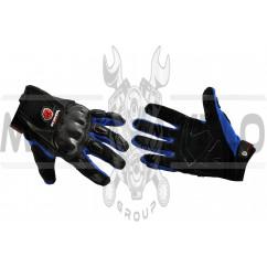 Перчатки SCOYCO (mod:HD-12, size:M, синие, текстиль, карбон)
