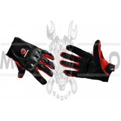 Перчатки SCOYCO (mod:HD-12, size:XL, красные, текстиль, карбон)