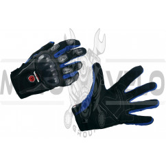 Перчатки SCOYCO (mod:HD-12, size:XL, синие, текстиль, карбон)