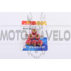 Ролики вариатора 4T GY6 125/150 18*14 17,0г (красные) DONGXIN