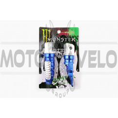 Подножки пассажирские (mod:1, синие) MONSTER ENERGY