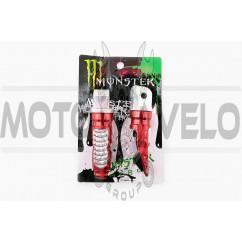Подножки пассажирские (mod:1, красные) MONSTER ENERGY