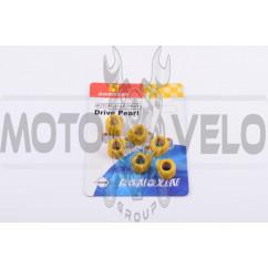 Ролики вариатора (тюнинг) Yamaha 15*12 5,0г (желтые) DONGXIN