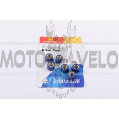 Ролики вариатора (тюнинг) Yamaha 15*12 6,5г (синие) DONGXIN