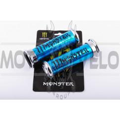 Ручки руля (MONSTER ENERGY, алюминиевые, синие) XJB