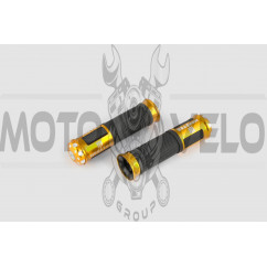 Ручки руля с алюм. отбойником (желтые) (mod:monster) GJCT