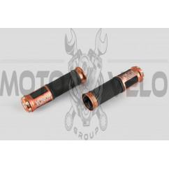 Ручки руля с алюм. отбойником (бронзовые) (mod:Honda) GJCT