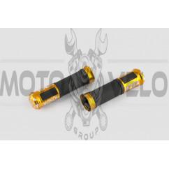 Ручки руля с алюм. отбойником (желтые) (mod:Honda) GJCT