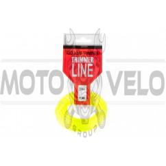 Леска мотокосы Ø2,0mm, 15 метров (звезда, желтая) ZHGT