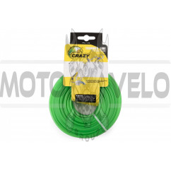Леска мотокосы Ø2,4mm, 60 метров (круглая, зеленая) ZHGT