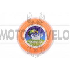 Леска мотокосы   Ø2,4mm, 60 метров   (круглая, оранжевая)   ZHGT