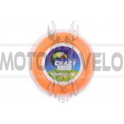 Леска мотокосы Ø2,4mm, 15 метров (косичка, оранжевая) ZHGT