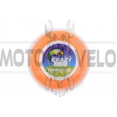Леска мотокосы Ø2,4mm, 60 метров (косичка, оранжевая) ZHGT