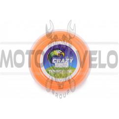 Леска мотокосы Ø2,4mm, 15 метров (звезда, оранжевая) ZHGT