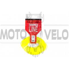 Леска мотокосы Ø2,7mm, 15 метров (косичка, желтая) ZHGT