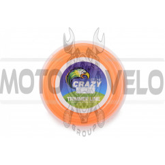 Леска мотокосы Ø2,7mm, 60 метров (косичка, оранжевая) ZHGT