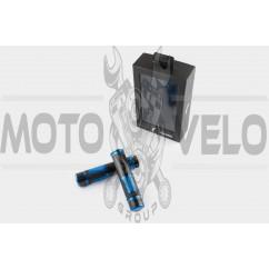Ручки руля карбон с алюм. отбойником (синие) RIZOMA