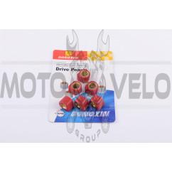 Ролики вариатора (тюнинг) Suzuki 17*12 12,0г (красные) DONGXIN