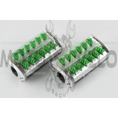 Резинки подножек водителя Delta (зеленые с хромированной вставкой mod:1) XJB