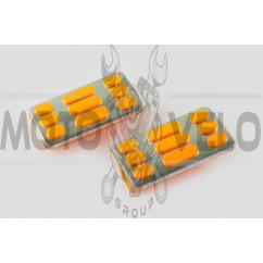 Резинки подножек водителя Delta (желтые с хромированной вставкой mod:2) XJB