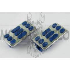 Резинки подножек водителя Delta (синие с хромированной вставкой mod:2) XJB