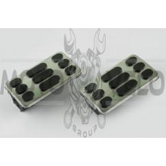 Резинки подножек водителя Delta (черные с хромированной вставкой mod:2) XJB