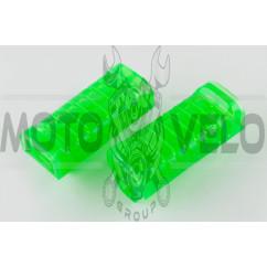 Резинки подножек водителя Delta (силиконовые, зеленые) XJB