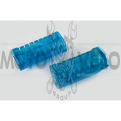 Резинки подножек водителя Delta (силиконовые, синие) XJB