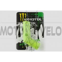 Резинка заводной ножки MONSTER ENERGY (универсальная, зеленая) XJB
